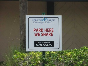 If you see this sign, please feel free to park there. We share.
