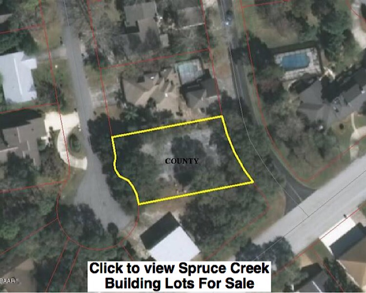 Vacant building lots for sale in Spruce Creek
