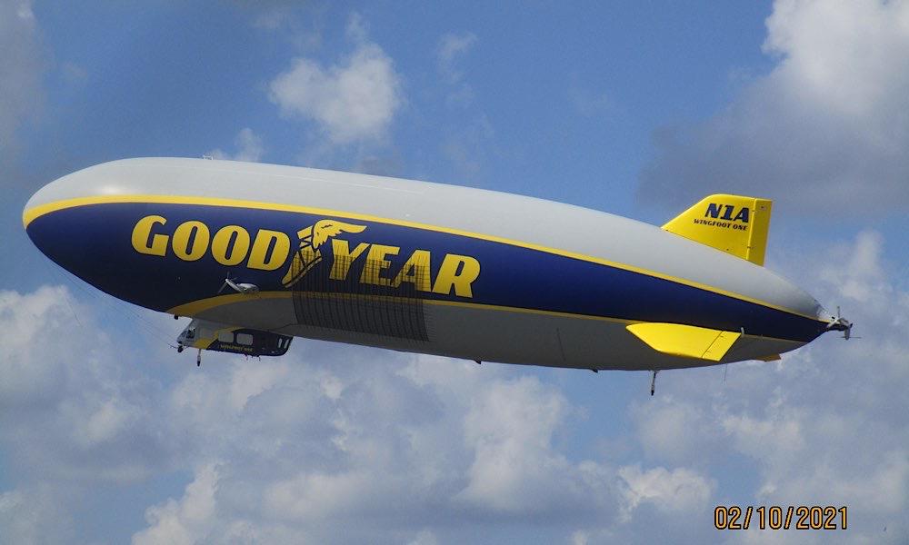 Goodyear Blimp Fly Over Spruce Creek